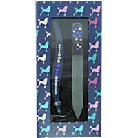 Danielle Creations - French Poodles Mini Nail File & Tweezer Set