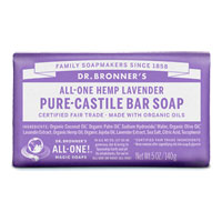 Dr. Bronner's - All-One Hemp Pure-Castile Bar Soap - Lavender