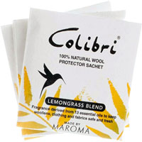 Colibri - Wool Protector Drawer Sachets (Lemongrass)