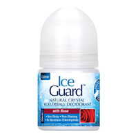 Ice Guard - Natural Crystal Rollerball Deodorant - Rose