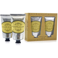 Naturally European - Ginger & Lime Luxury Hand & Foot Creams Gift Pack