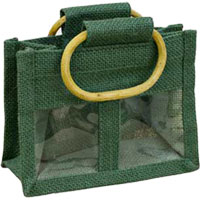 Unbranded - Twin Window Jute Bag