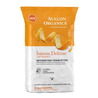 Avalon Organics - Intense Defence Detoxifying Towelettes