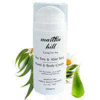 Martha Hill - Tea Tree & Aloe Vera Hand & Body Cream