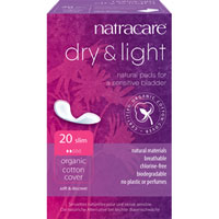 Natracare - Dry + Light Natural Pads - Slim