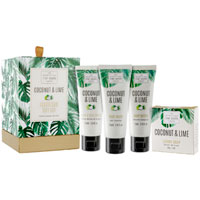Scottish Fine Soaps - Coconut & Lime Luxurious Gift Set